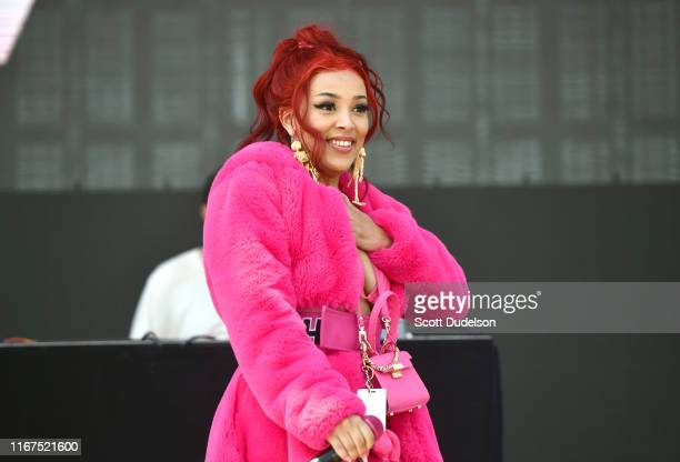 Rapper Doja Cat performs onstage during the 923 Real Street Festival at Honda Center on August 11 2019 in Anaheim California