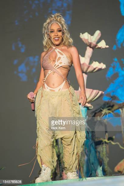 Rapper Doja Cat performs onstage during weekend two, day two of Austin City Limits Music Festival at Zilker Park on October 09, 2021 in Austin, Texas.