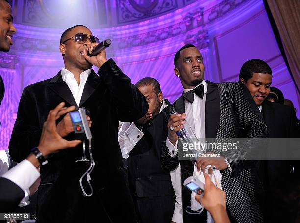 """Rapper Doug E. Fresh and Hip Hop Mogul Sean """"Diddy"""" Combs stand onstage at the Sean """"Diddy"""" Combs' Birthday Celebration Presented by Ciroc Vodka at..."""