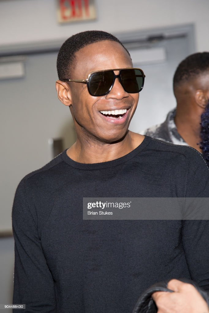 Rapper Doug E. Fresh backstage after performance for Washington Wizards Concert Series - Hip Hop Night at Capital One Arena on January 12, 2018 in Washington, DC.