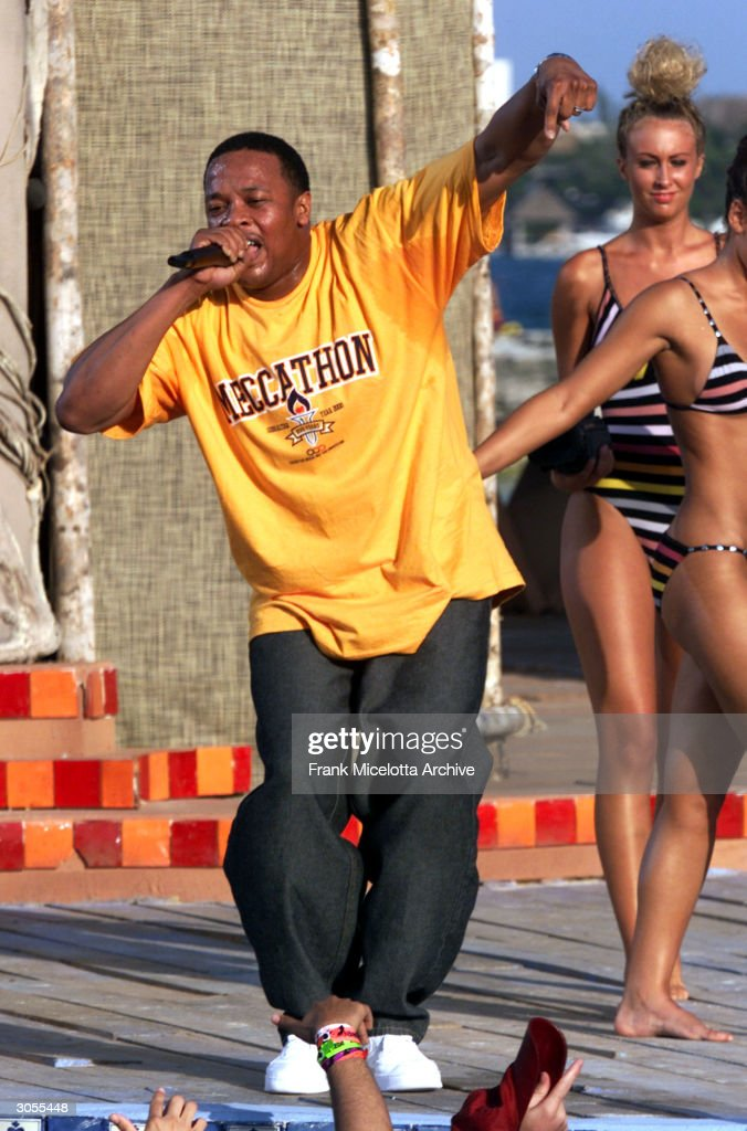 Rapper Dr. Dre performs during MTV's Spring Break 2000 in Cancun, Mexico.