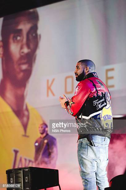 Rapper Drake announces players before the NBA AllStar Game as part of the 2016 NBA AllStar Weekend on February 14 2016 at Air Canada Centre in...