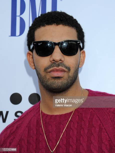 Rapper Drake arrives at the 11th Annual BMI Urban Awards on August 26 2011 in Los Angeles California