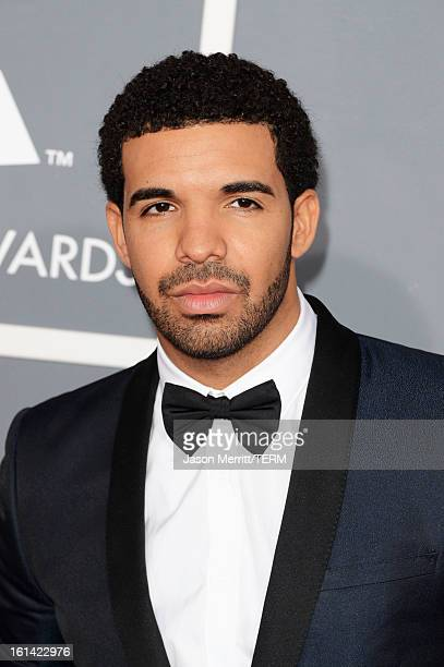 Rapper Drake arrives at the 55th Annual GRAMMY Awards at Staples Center on February 10 2013 in Los Angeles California