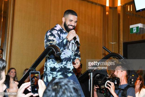 Rapper Drake attends the Uninterrupted Canada Launch held at Louis Louis at The St. Regis Toronto on August 02, 2019 in Toronto, Canada.