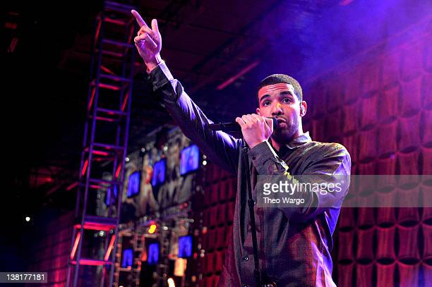 Rapper Drake performs at ESPN The Magazine's NEXT Event on February 3 2012 in Indianapolis Indiana