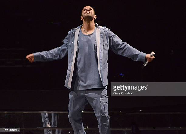 Rapper Drake performs at the 'Would You Like A Tour' Concert at Barclays Center on October 28 2013 in New York City