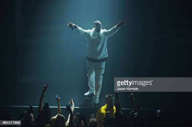 Rapper Drake performs onstage during the 2017 Adult Swim Upfront Party at Terminal 5 on May 17 2017 in New York City