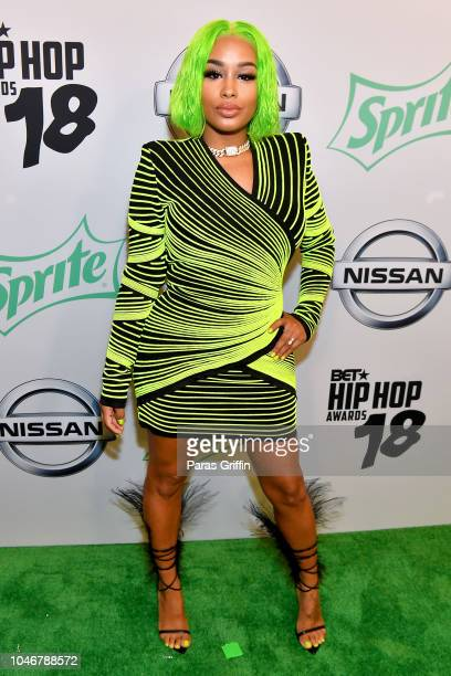 Rapper Dream Doll arrives at the BET Hip Hop Awards 2018 at Fillmore Miami Beach on October 6 2018 in Miami Beach Florida