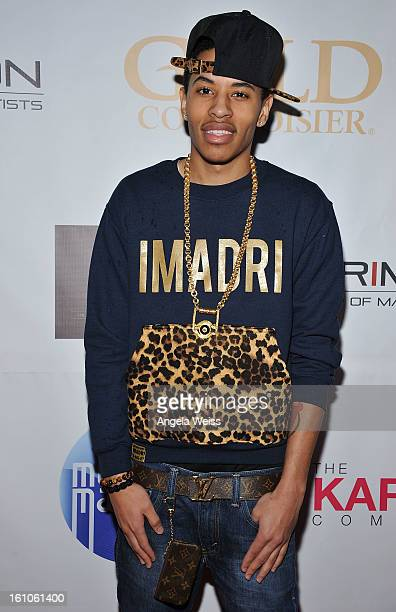 """Rapper Driiky Graham arrives at BET Network's Music Matters Showcase """"Lipstick On The Mic"""" at Belasco Theatre on February 8, 2013 in Los Angeles,..."""