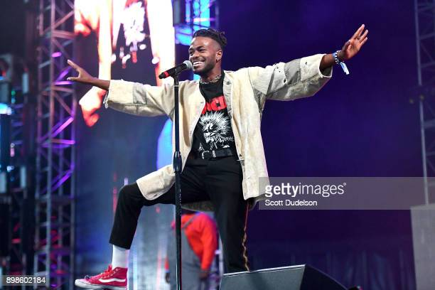 Rapper Duckwrth performs onstage during day two of the Rolling Loud Festival at NOS Events Center on December 17 2017 in San Bernardino California