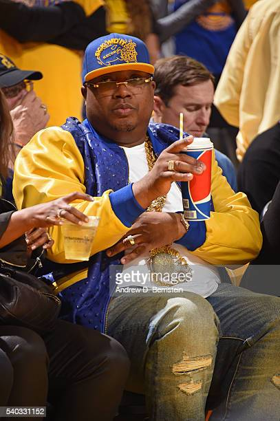 Rapper E40 attends Game Five of the 2016 NBA Finals between the Cleveland Cavaliers and the Golden State Warriors on June 13 2016 at ORACLE Arena in...