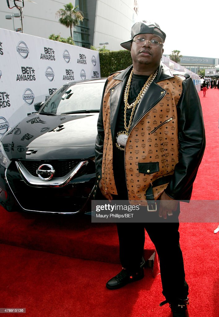 Rapper E-40 attends the Nissan red carpet during the 2015 BET Awards at the Microsoft Theater on June 28, 2015 in Los Angeles, California.