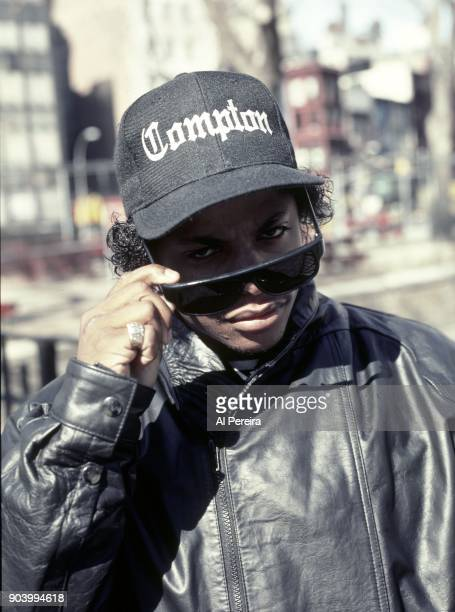 Rapper EazyE poses for a portrait in April 1990 in Union Square in New York New York
