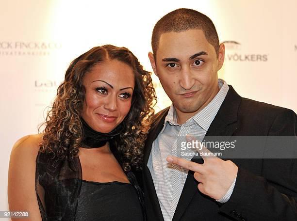 Rapper Ekrem Bora alias Eko Fresh and his Girlfriend attend the 'Klitschko Meets Becker' Charity Gala after the charity match on October 20 2009 in...