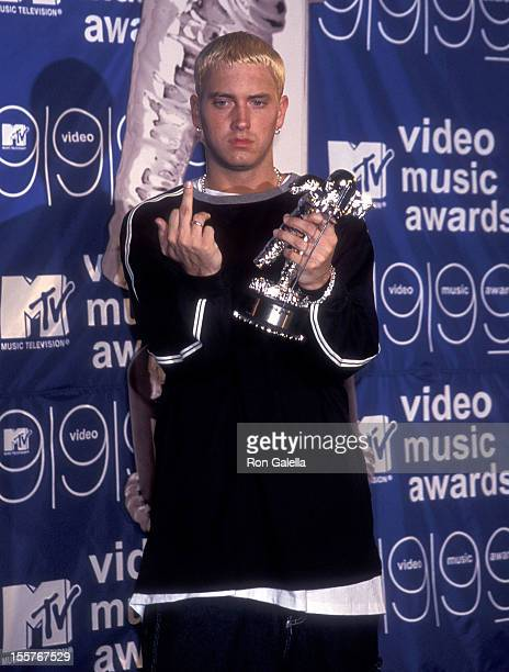 Rapper Eminem attends the 16th Annual MTV Video Music Awards on September 9 1999 at the Metropolitan Opera House Lincoln Center in New York City