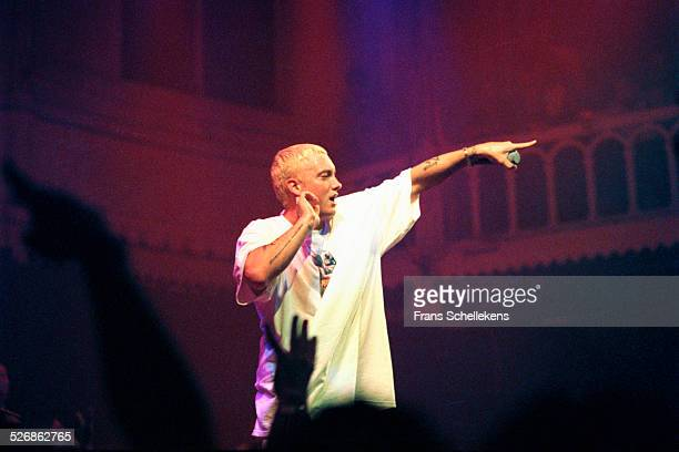 Rapper Eminem, performs at the Paradiso on April 30th 2000 in Amsterdam, Netherlands.