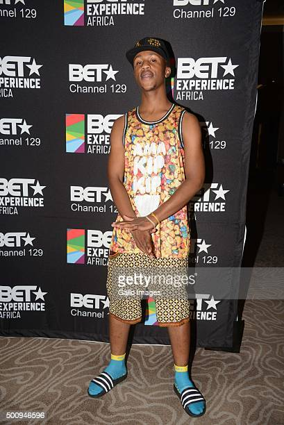 SA Rapper Emtee at the BET Experience Africa press conference on December 11 2015 at the Radisson Blue Hotel in Johannesburg South Africa The...
