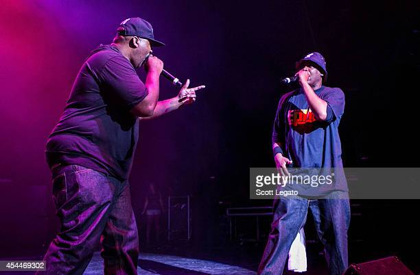 Rapper Eric Serman and Michael Parish of EPMD performs at DTE Energy Center on August 31 2014 in Clarkston Michigan