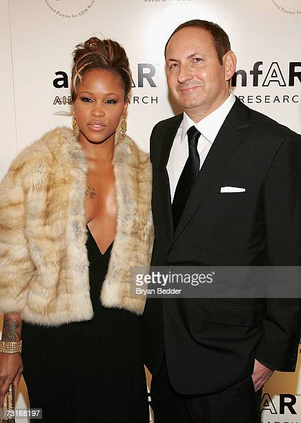 Rapper Eve and MAC President John Dempsey attend the AmFAR Gala honoring the work of John Demsey and Whoopi Goldberg at Cipriani 42nd Street January...