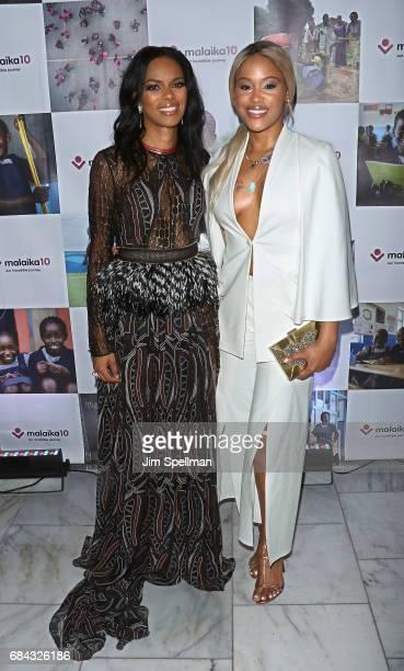 Rapper Eve and Malaika founder Noella Coursaris Musunka attend Malaika10 at Espace on May 17 2017 in New York City