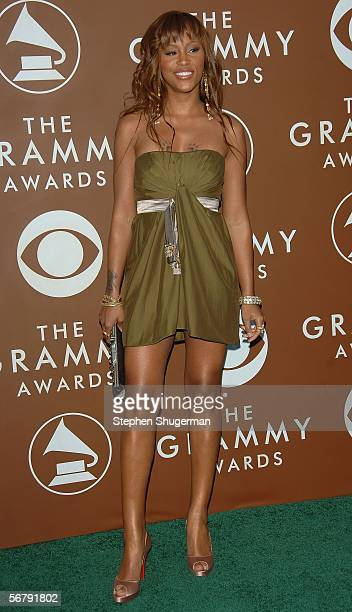 Rapper Eve arrives at the 48th Annual Grammy Awards at the Staples Center on February 8 2006 in Los Angeles California