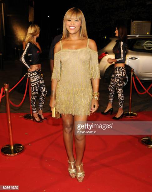 Rapper Eve arrives at the MTV Australia Awards 2008 at the Australian Technology Park Redfern on April 26 2008 in Sydney Australia This year's event...