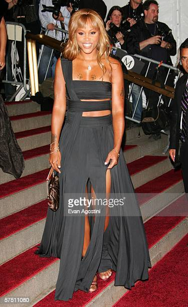 Rapper Eve attends the Metropolitan Museum of Art Costume Institute Benefit Gala Anglomania at the Metropolitan Museum of Art May 1 2006 in New York...