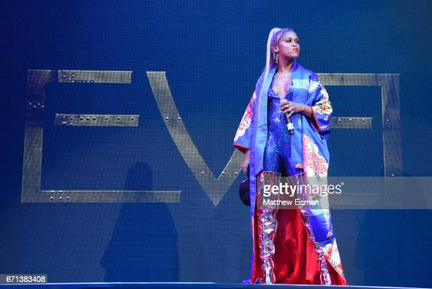 Rapper Eve performs live on stage for the Ruff Ryder's Reunion Tour 2017 at Barclays Center of Brooklyn on April 21 2017 in New York City