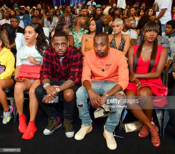 Rapper Fabolous and Ruggs attend at the BET Hip Hop Awards 2018 at Fillmore Miami Beach on October 6 2018 in Miami Beach Florida