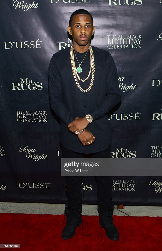 Perfect Rapper Fabolous Attends All Black Affair For Mr Rugs U0026 Toya Wright Birthday  Celebration At XS