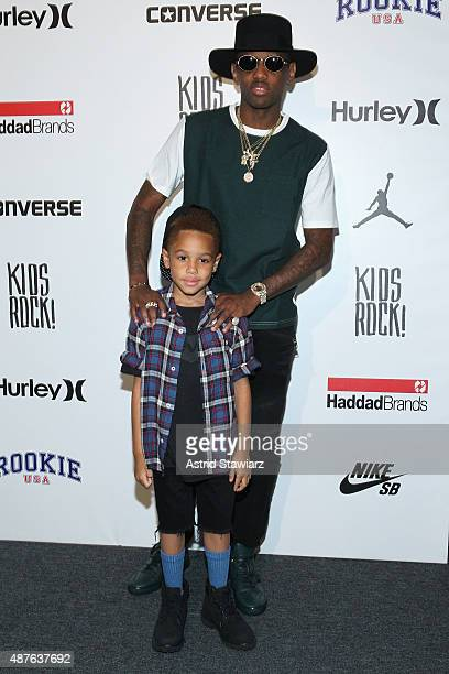 Rapper Fabolous poses backstage at the Kids Rock fashion show during Spring 2016 New York Fashion Week The Shows at The Dock Skylight at Moynihan...