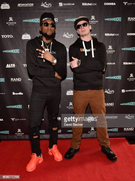 Rapper Famous Kid Brick and Josh McKenzie attend the Gamechanger Films reception at the RAND Luxury Escape during the 2018 Sundance Film Festival at...