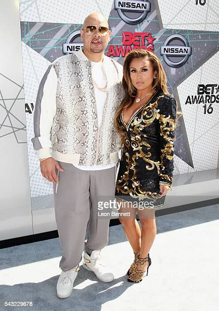Rapper Fat Joe and Lorena Cartagena attend the Make A Wish VIP Experience at the 2016 BET Awards on June 26 2016 in Los Angeles California