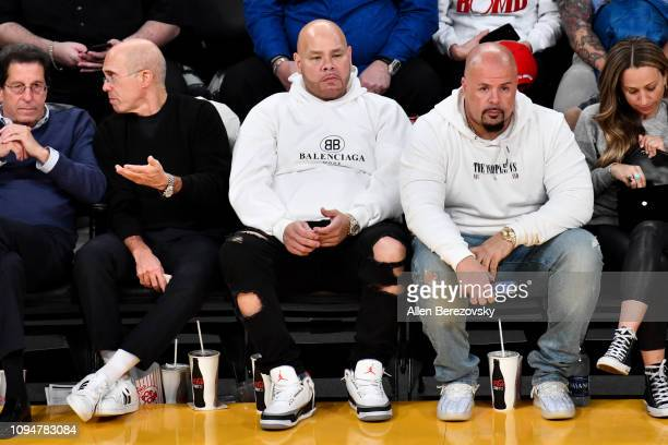 Rapper Fat Joe attends a basketball game between the Los Angeles Lakers and the Chicago Bulls at Staples Center on January 15 2019 in Los Angeles...