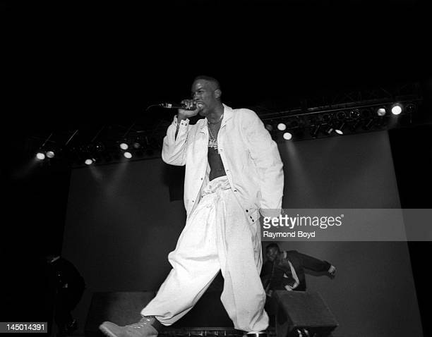Rapper Father MC performs at the Regal Theater in Chicago, Illinois in SEPTEMBER 1992.