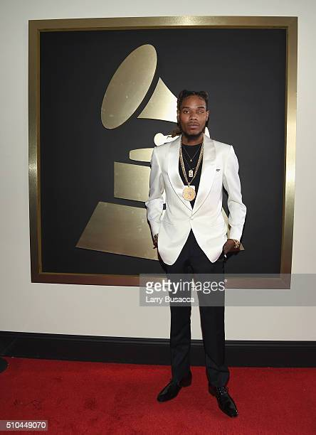 Rapper Fetty Wap attends The 58th GRAMMY Awards at Staples Center on February 15 2016 in Los Angeles California