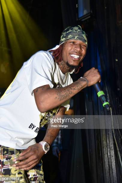 Rapper Fetty Wap performs at Irving Plaza on January 20 2018 in New York City