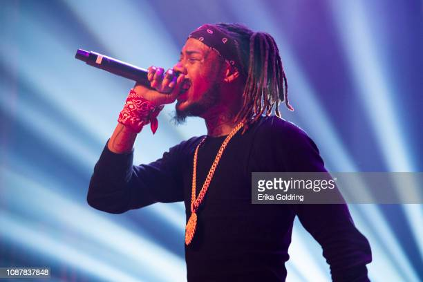 Rapper Fetty Wap performs at Orpheum Theater on December 28 2018 in New Orleans Louisiana