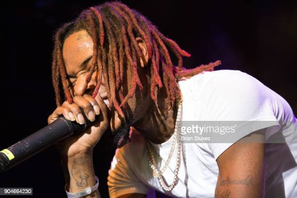 Rapper Fetty Wap performs live 'Fetty Wap For My Fans' tour at The Fillmore Silver Spring on January 13 2018 in Silver Spring Maryland