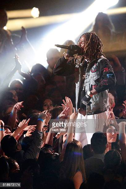Rapper Fetty Wap performs onstage during the iHeartRadio Music Awards at The Forum on April 3 2016 in Inglewood California