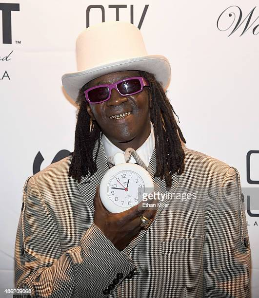 Rapper Flavor Flav attends producer Wade Martin's premiere of music videos by Flavor Flav and Coolio the first ever to use fullHD virtual reality...