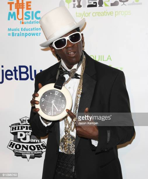 Rapper Flavor Flav attends the 2009 VH1 Hip Hop Honors after party to benefit the VH1 Save The Music Foundation at One Hanson Place on September 23...