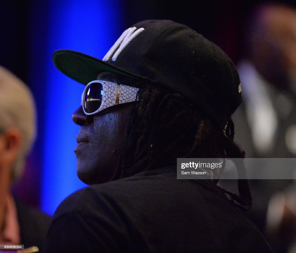 Rapper Flavor Flav attends the fifth annual Nevada Boxing Hall of Fame induction gala at Caesars Palace on August 12, 2017 in Las Vegas, Nevada.