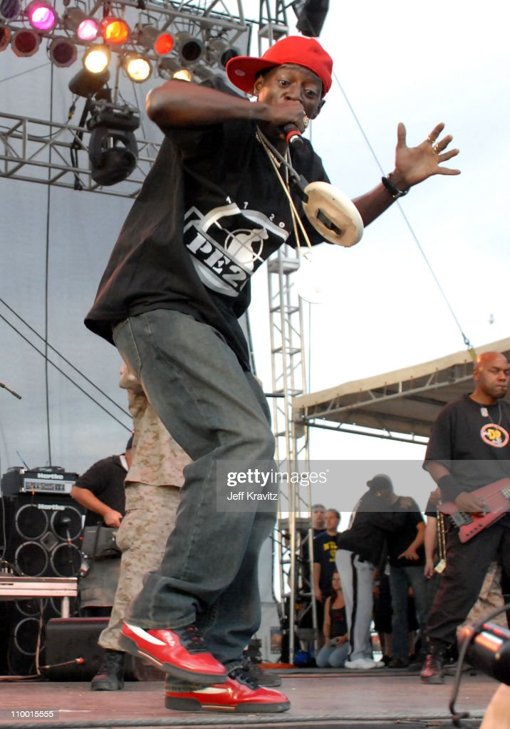Rapper Flavor Flav from the rap group Public Enemy performs during the Vegoose Music Festival 2007 at Sam Boyd Stadium on October 27, 2007 in Las Vegas, Nevada.