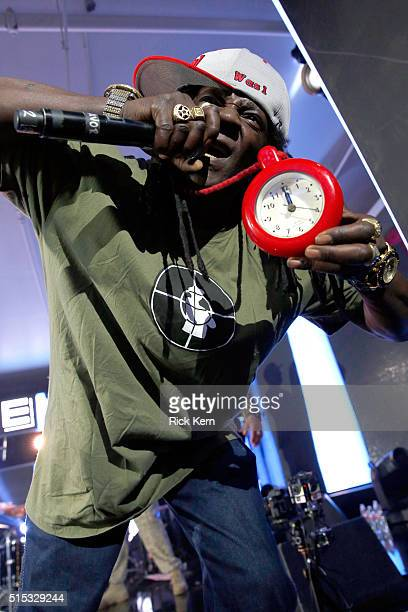 Rapper Flavor Flav of Public Enemy performs onstage at Samsung Galaxy Life Fest at SXSW 2016 on March 12 2016 in Austin Texas