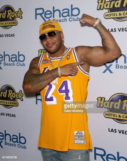 Rapper Flo Rida arrives at the Rehab Beach Club pool party grand opening weekend at the Hard Rock Hotel Casino on April 29 2017 in Las Vegas Nevada