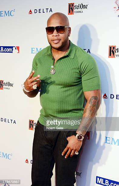 Rapper Flo Rida attends Major League Baseball's All Star Bash at Roseland Ballroom on July 14 2013 in New York City