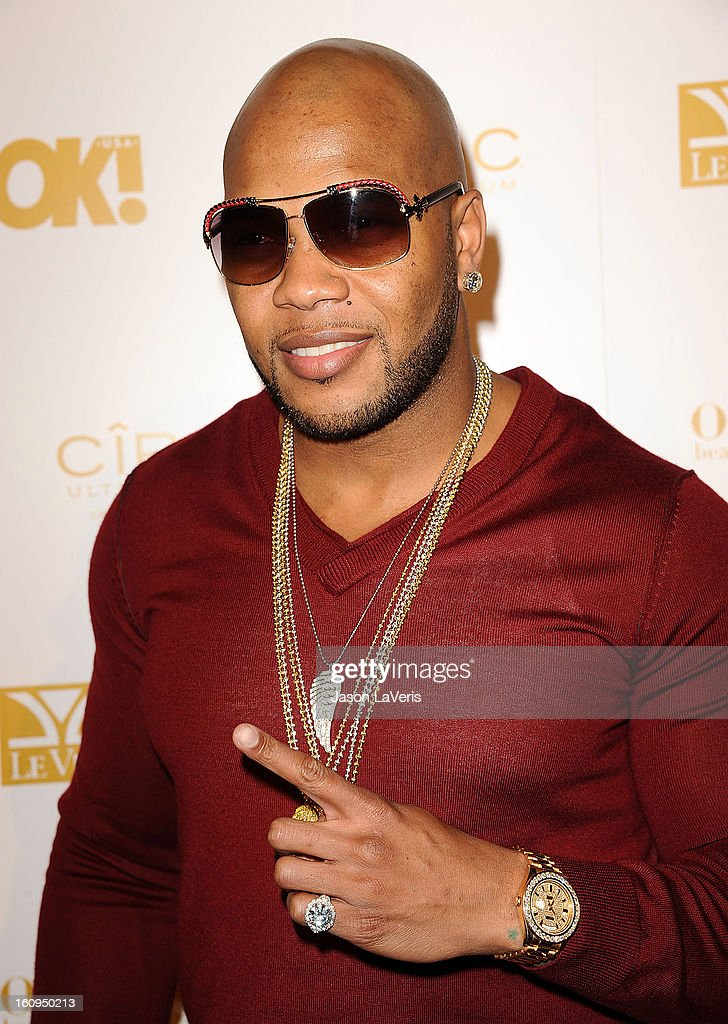 Rapper Flo Rida attends OK! Magazine's pre-Grammy event at Sound on February 7, 2013 in Hollywood, California.