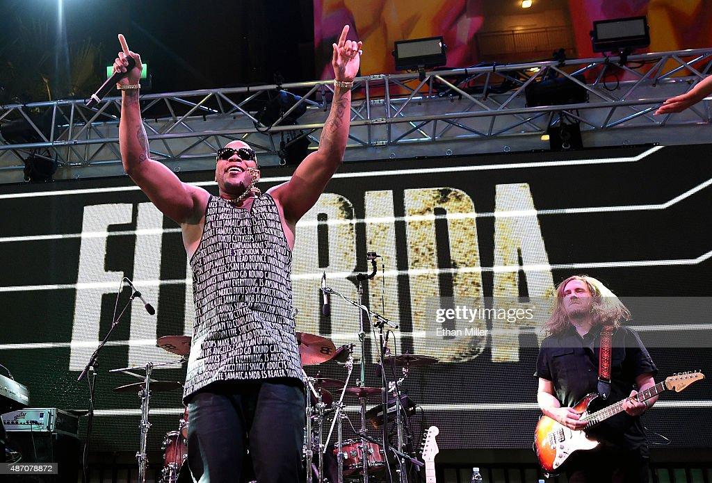 Flo Rida Performs At Foxtail Pool At SLS Las Vegas